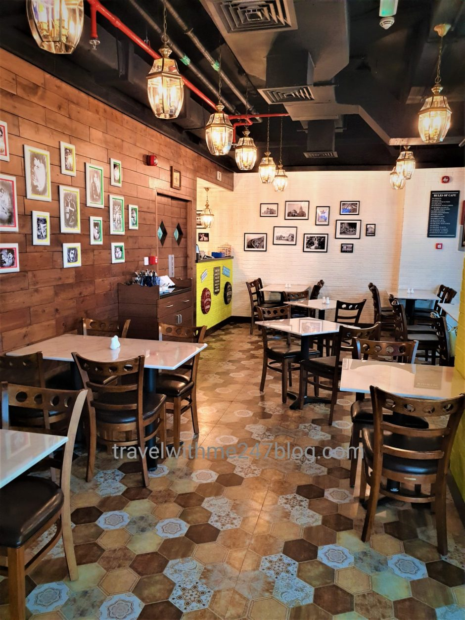Interiors of Café Funkie Town – Explore Best Parsi Food in Dubai