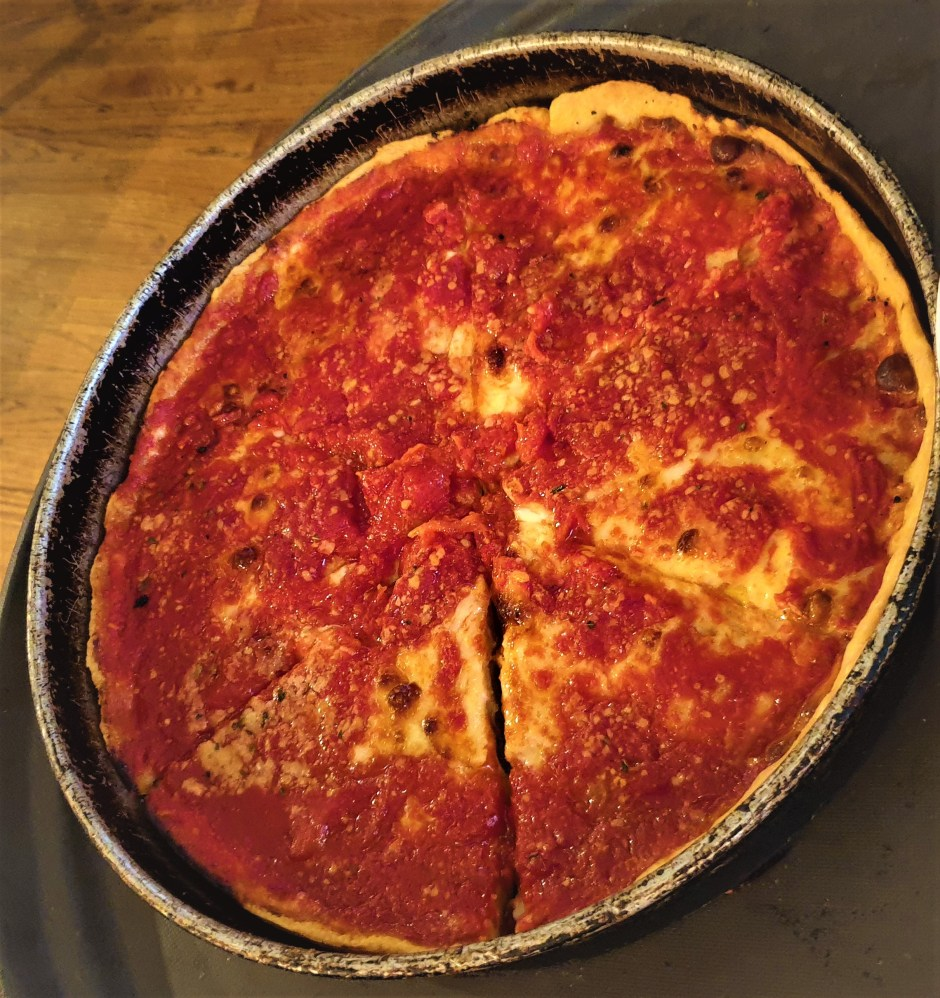 deep dish pizza at Best Chicago Food Tours – Taste Famous Food Of Chicago