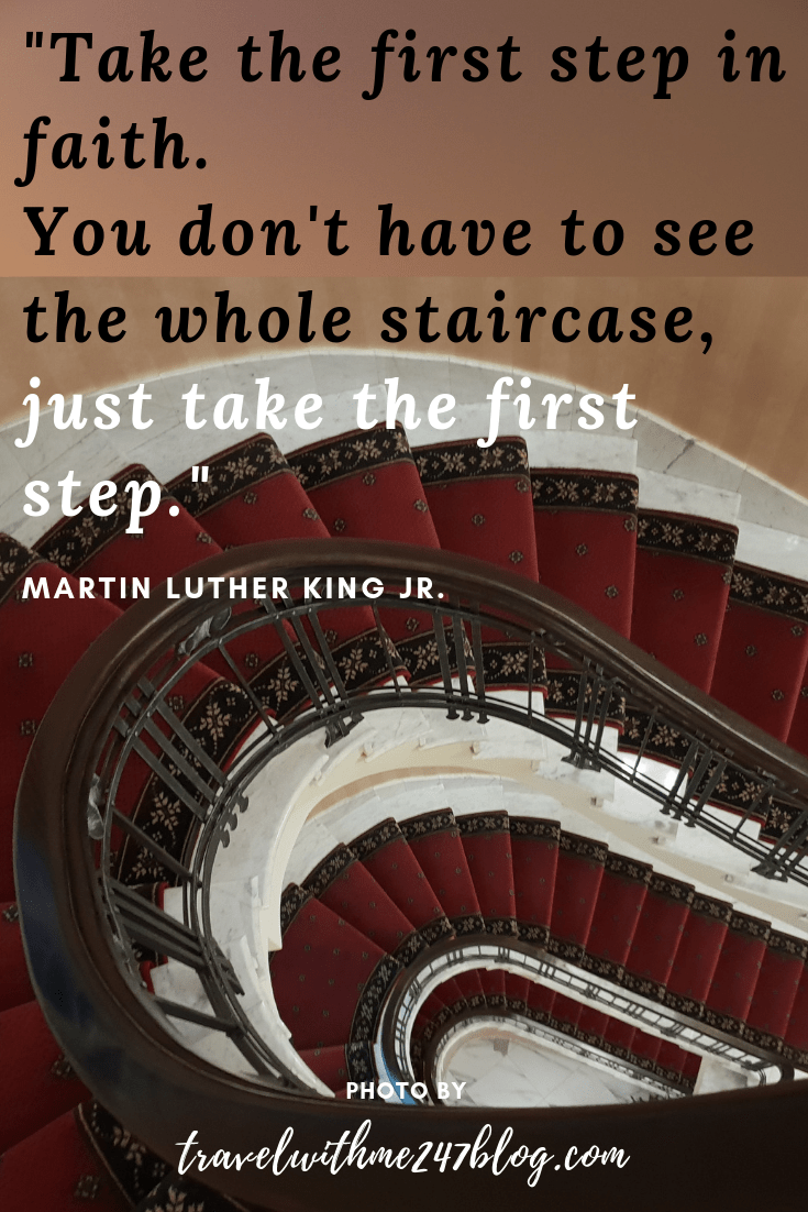 _Take the first step in faith. You don't have to see the whole staircase, just take the first step._ housestairs