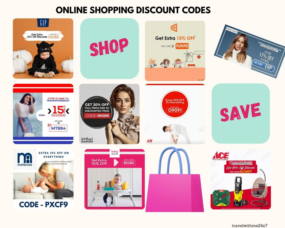 discount online shopping codes from travelwithme24x7 in UAE