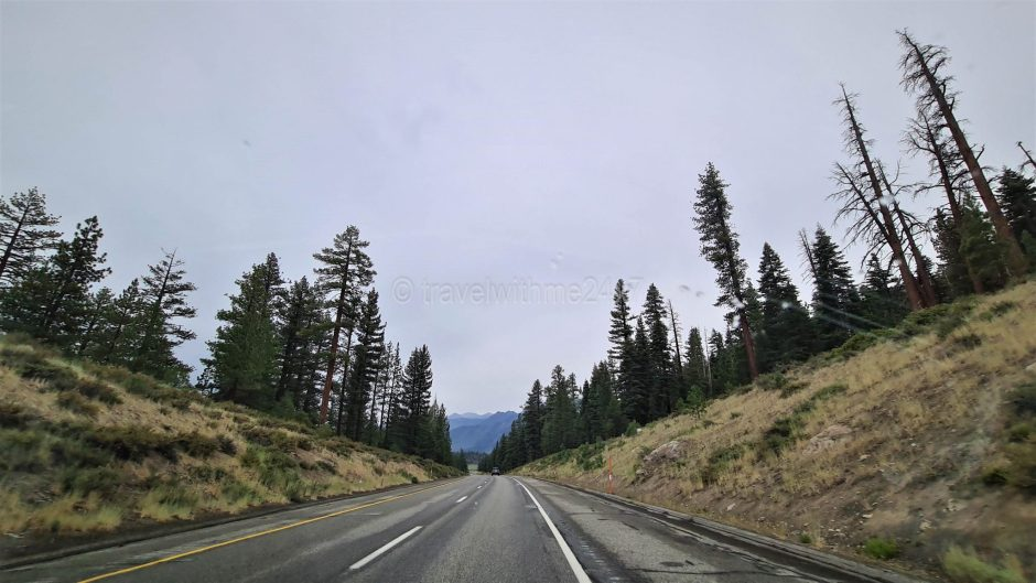 Driving to Mammoth Lake