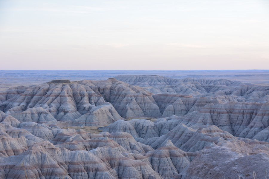 Point de vue sur Badlands National Park