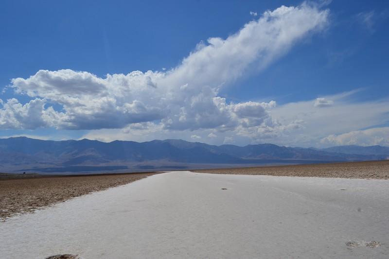 Vue sur Badwater Vallée de la Mort