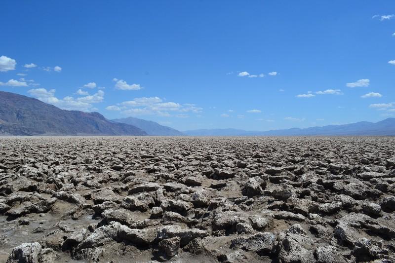 Désert de sel vallée de la mort