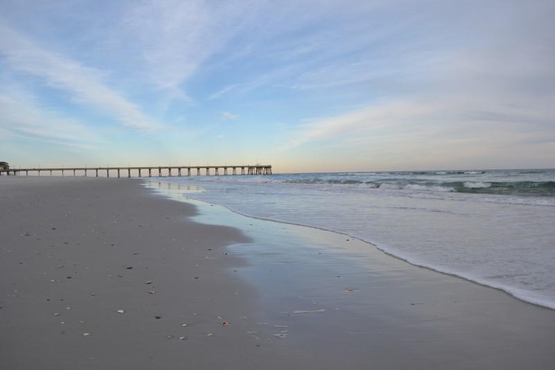Coucher de soleil sur l'océan en Caroline du Nord
