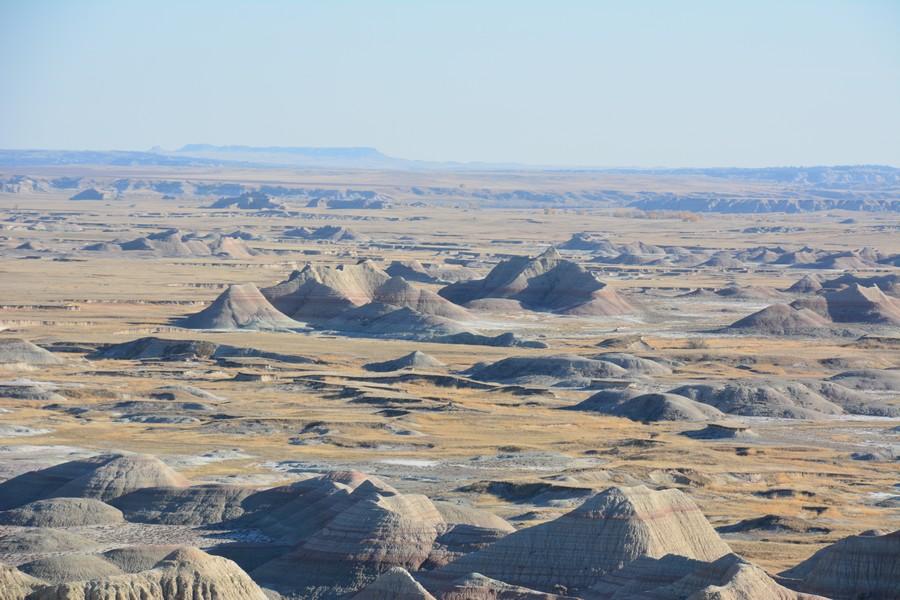 Panorama Bandlands National Parc