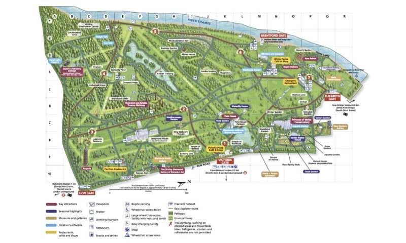 kew garden地圖