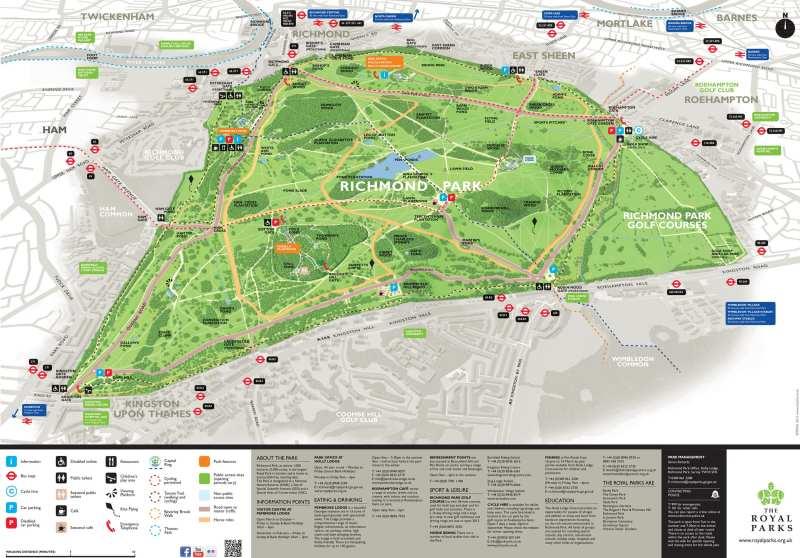 Richmond park官網參觀地圖