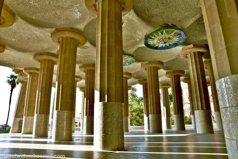 奎爾公園 Park Guell, Hall of 100 columns百柱大廳