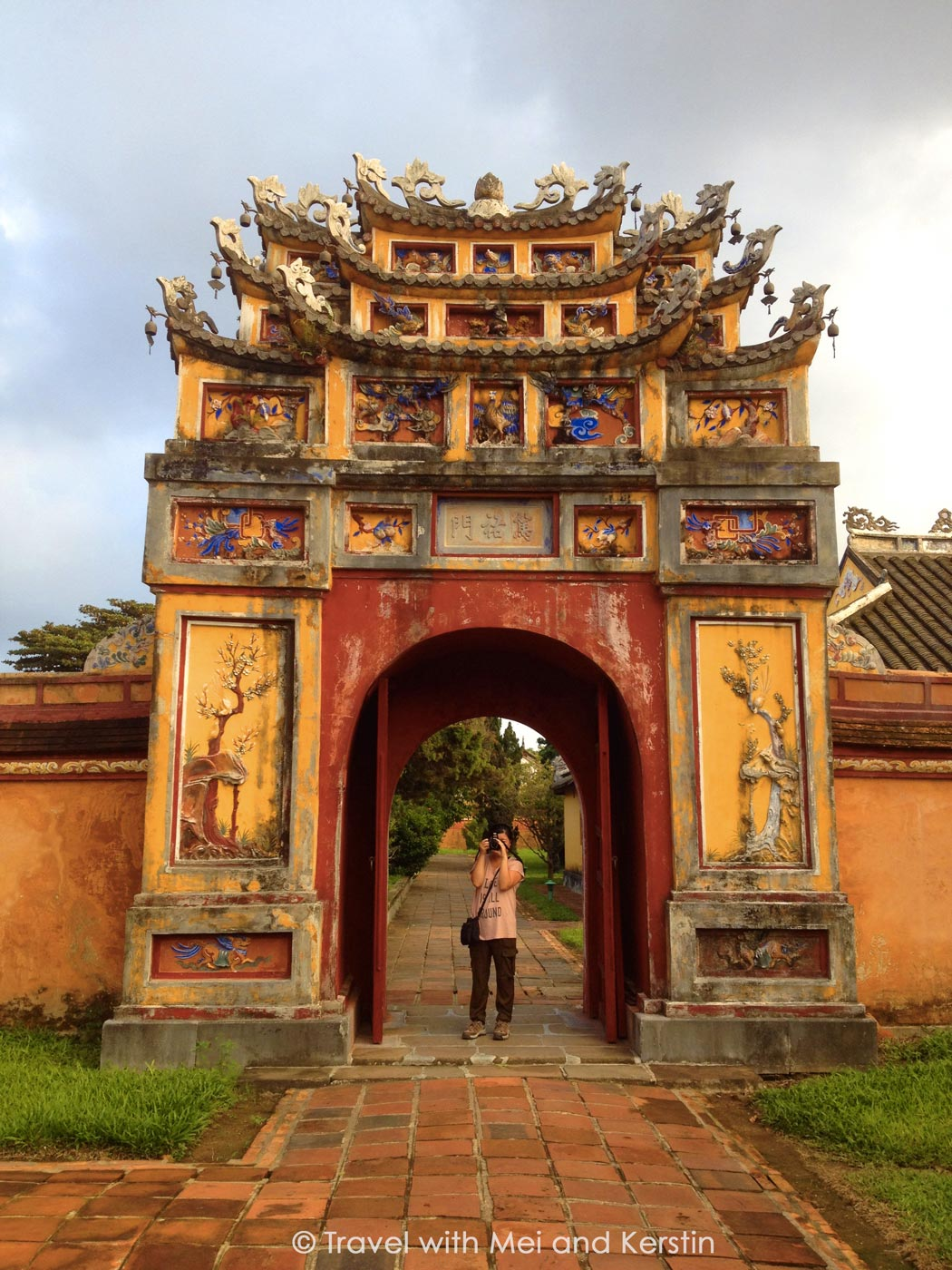 Mei at the Imperial City of Hue, Central Vietnam