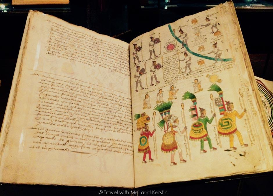 Codex Mendoza, c. 1541, Bodleian Library, Oxford © Travelwithmk.com