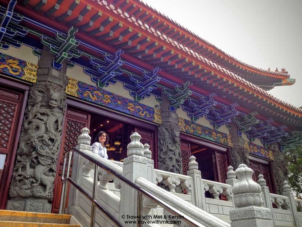 Entering the Po Lin Monastery, Lantau Island, Hong Kong © TravelwithMK.com