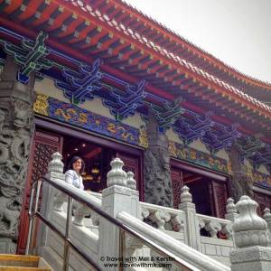 Entering the Po Lin Monastery, Lantau Island, Hong Kong © TravelwithMK.com
