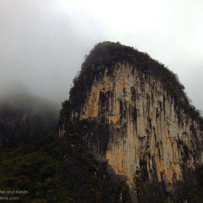 Karst mountain from the Li River, Guanxi, China © Travelwithmk.com