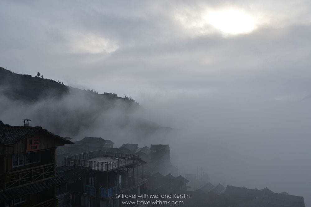Another foggy day in Ping'An, Longsheng, Guanxi, China © Travelwithmk.com