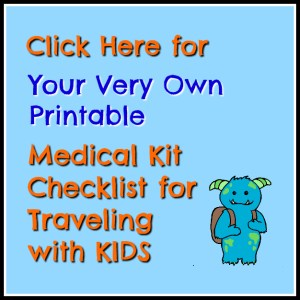 Travel Medical Kit Checklist