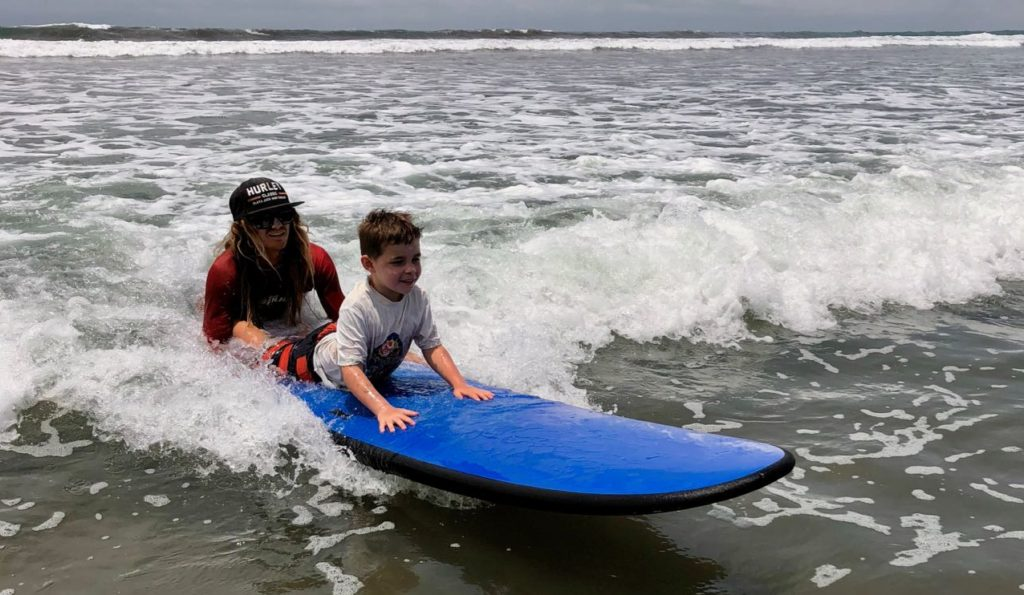 Learning to surf in Costa Rica