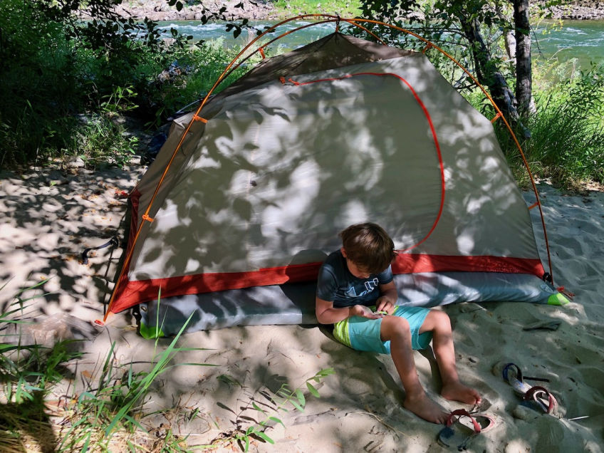Whitewater camping