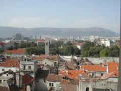 תצפית נמגדל הפעמונים בסמוך לארמון דיוקלטיואנוס בספליט, קרואטיה