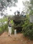 שרידי טנק אמריקאי באזור המפורז בוייטנאם