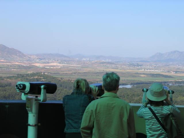 תצפית לצפון קוריאה מהגבול עם דרום קוריאה