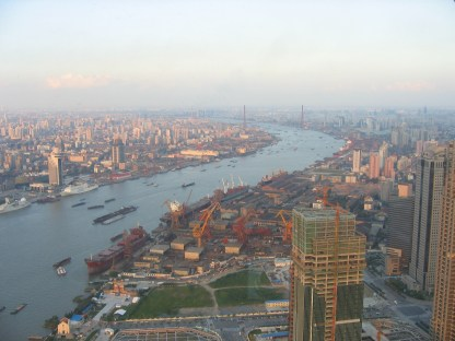 שנגחאי - תצפית ממגדל פנינת המזרח