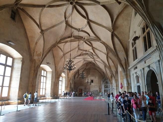 האולם הגדול בארמון הישם במצודת פראג