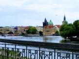תצפית על העיר העתיקה רובע קמפה בפראג