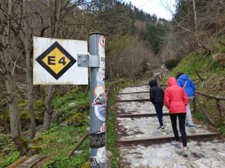 מסלול ההליכה E4 לפסגת האולימפוס