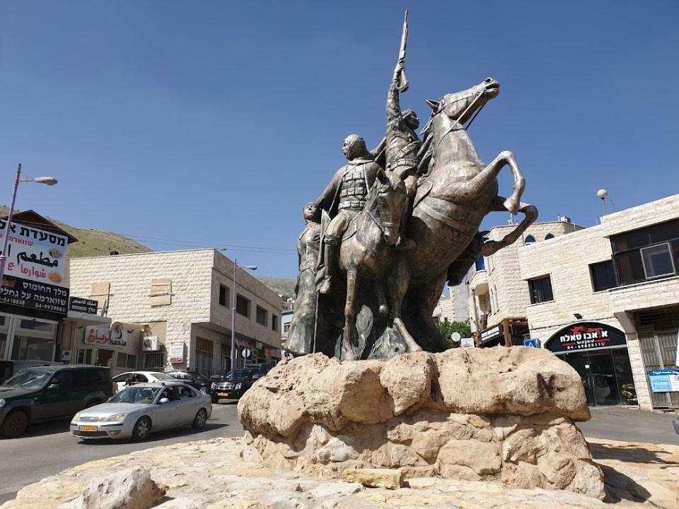 הפסל של סולטאן אל אטרש במג'דל שמס