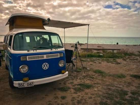 VW Camper Van at Rapid Bay Campground