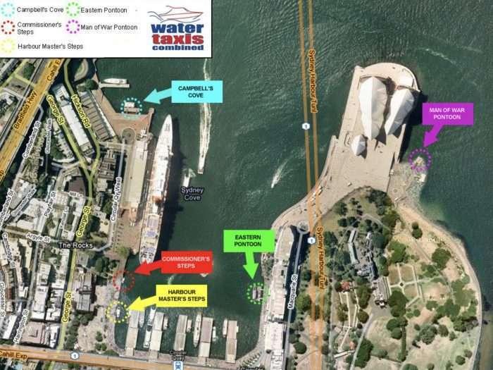 Circular Quay Wharf Map