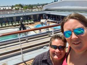 Gill and Sara on P&O 3 day taster cruise