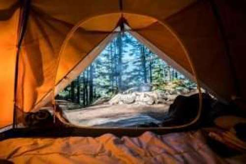 Amazing view looking out of a tent #camping #lovecamping #loveoutdoors #tentwithaview