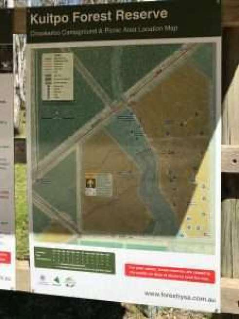 Kuitpo forest camping map and camping sites available
