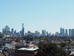 Skyline of Melbourne - view from our rooftop