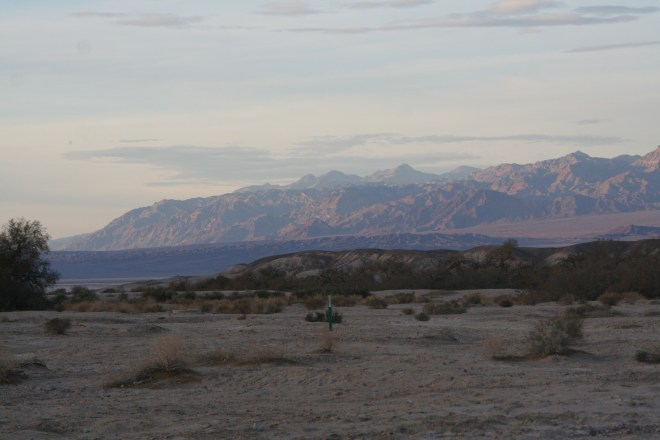 View from our camp site