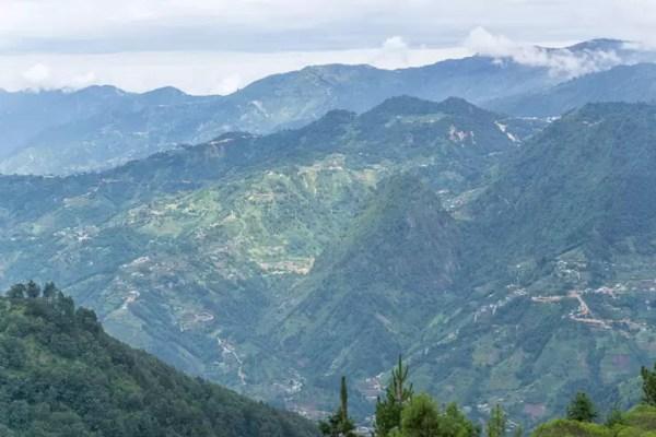Hiking Volcan Tajumulco in Guatemala the highest mountain