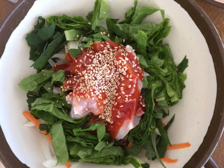 Gimnyeong Beach Fish Lunch Dish