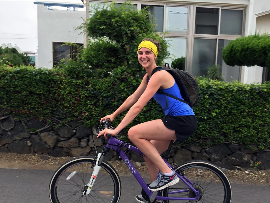 Riding Bikes on Jeju Island