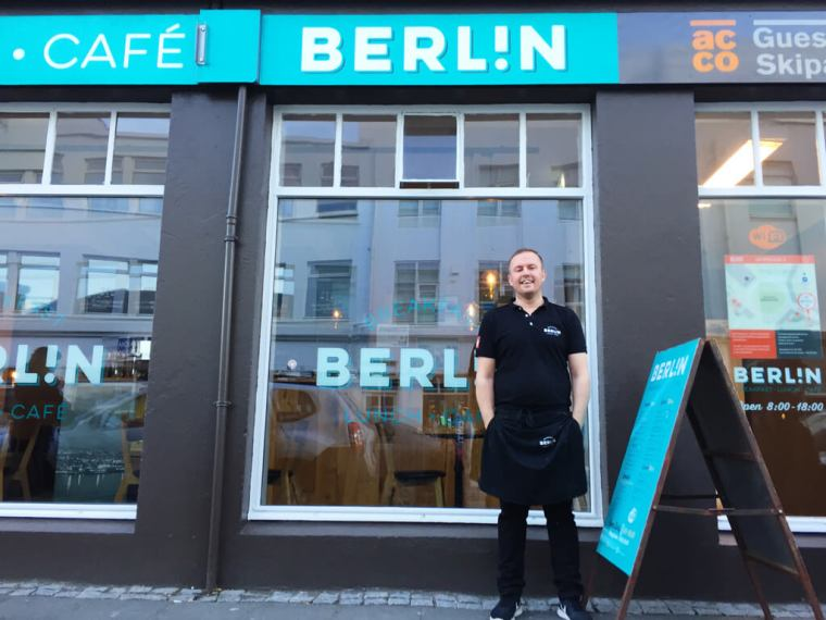 Akureyri's Cafe Berlin in Iceland - Owner Sveinn