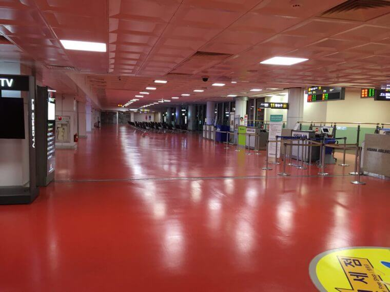 Quiet Korean Airport Jeju