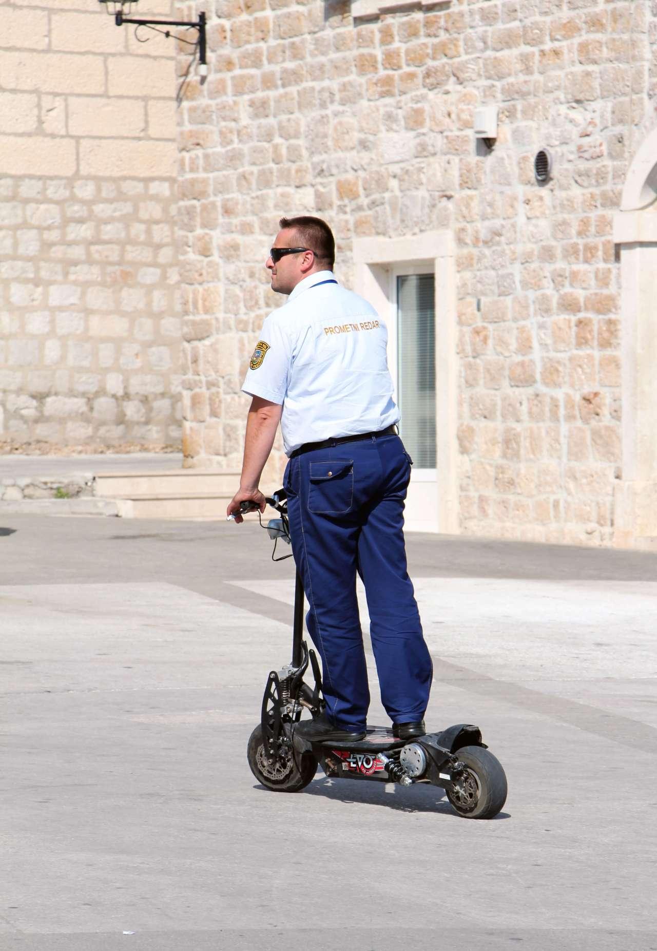 Croatian Scooter Cop