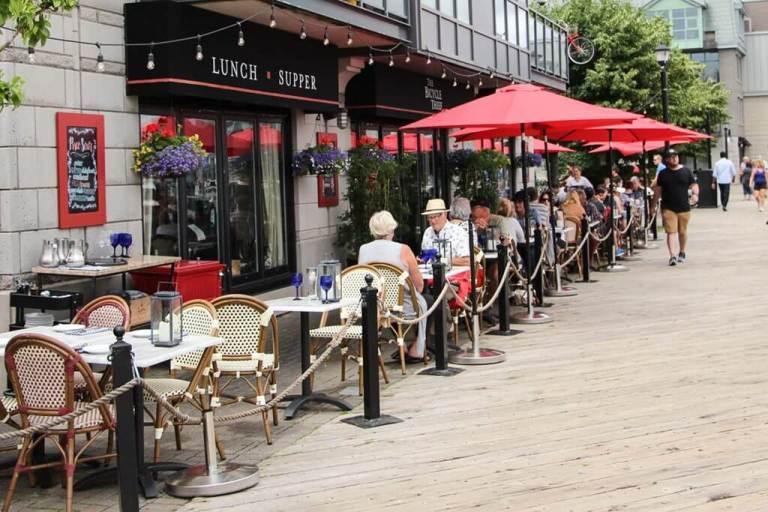 Halifax's Bicycle Thief Patio Harbourfront Walkway