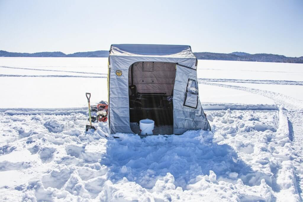 6 Facts about Windy Lake Ontario: Ice Fishing Hut