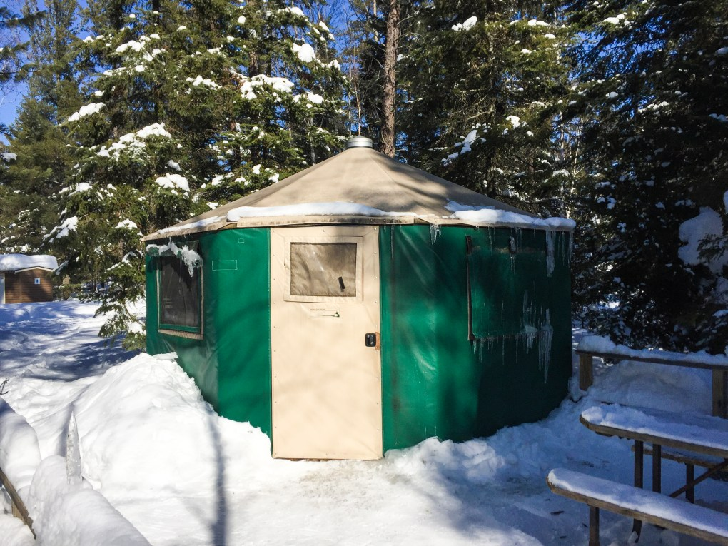 Windy Lake Ontario Yurts in Winter