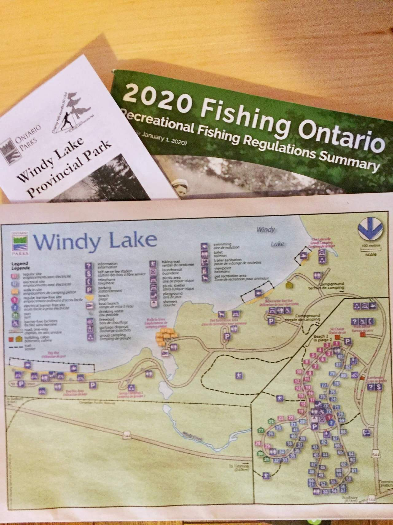 Windy Lake Provincial Park & Ontario Fishing Licence