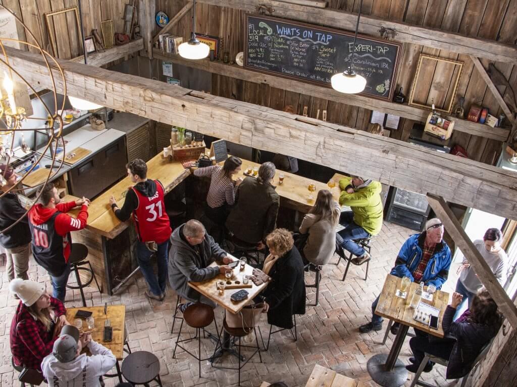 Charlotteville Brewery Birds' Eye View