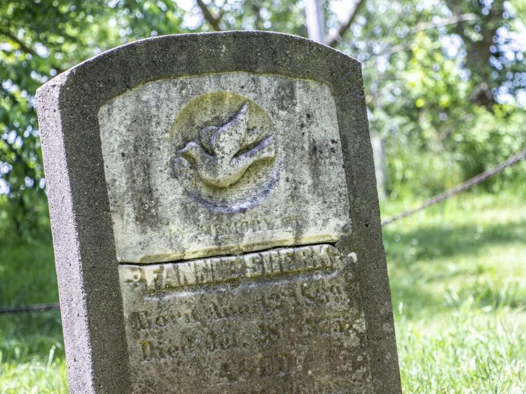 Fannie Schoerg-Sherk's Gravesite at Waterloo's Memorial Tower