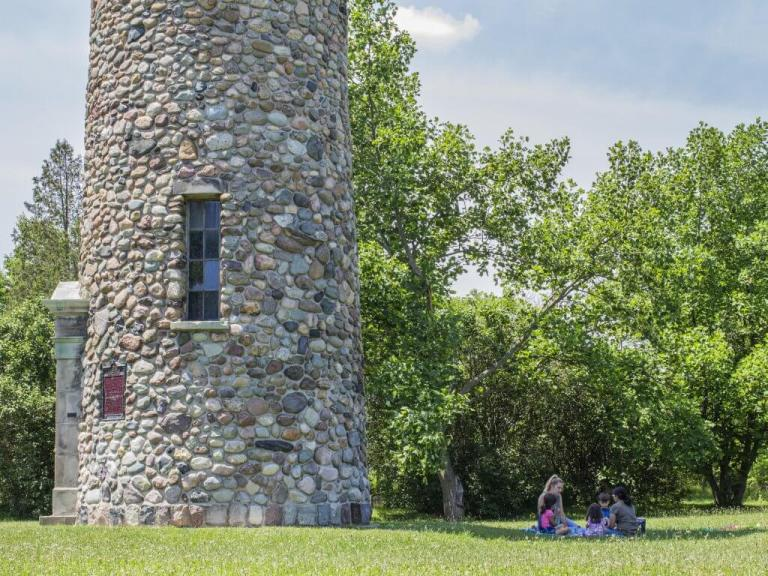 Summer Picnics Under the Waterloo Pioneer Memorial Tower